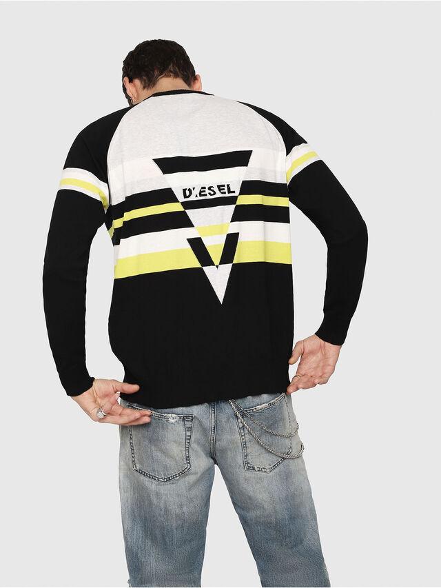 Diesel - K-SHUFF, Black/White - Knitwear - Image 2