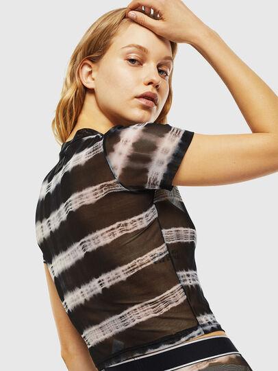 Diesel - UFTEE-ROUNDFEM-M, Black/White - T-Shirts - Image 2