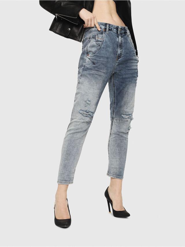 Diesel - Fayza JoggJeans 069FC, Light Blue - Jeans - Image 1
