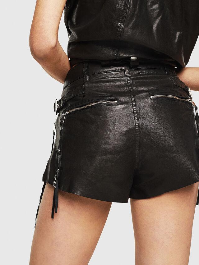 Diesel - L-LANEY, Black Leather - Shorts - Image 2