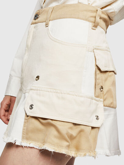 Diesel - O-AMATA-A, Cream - Skirts - Image 3