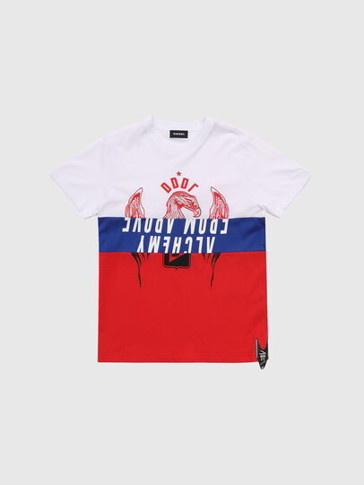 Diesel - TJUSTA1, White/Red/Blu - T-shirts and Tops - Image 1