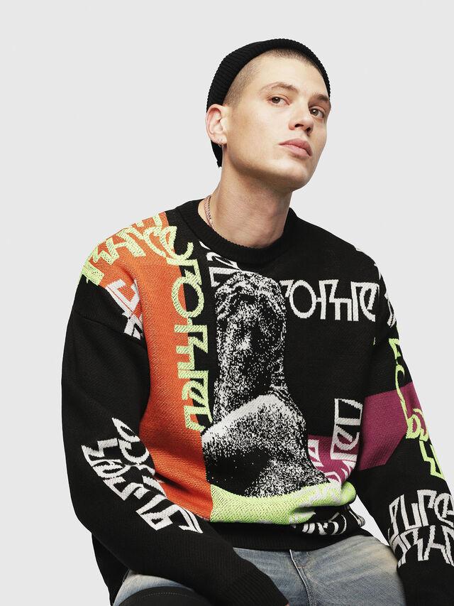 Diesel - K-NOX, Black - Knitwear - Image 3