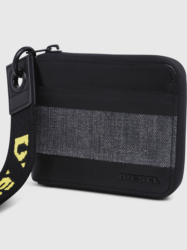 Diesel - ZIPPY HIRESH S, Gray/Black - Zip-Round Wallets - Image 4