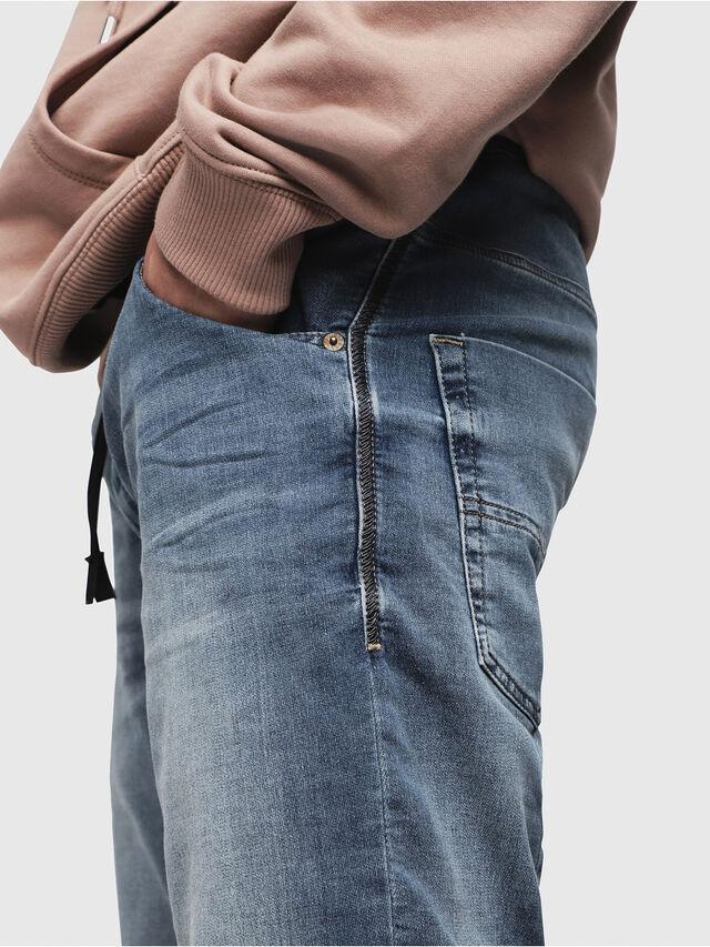 Diesel KROOSHORT JOGGJEANS, Light Blue - Shorts - Image 3