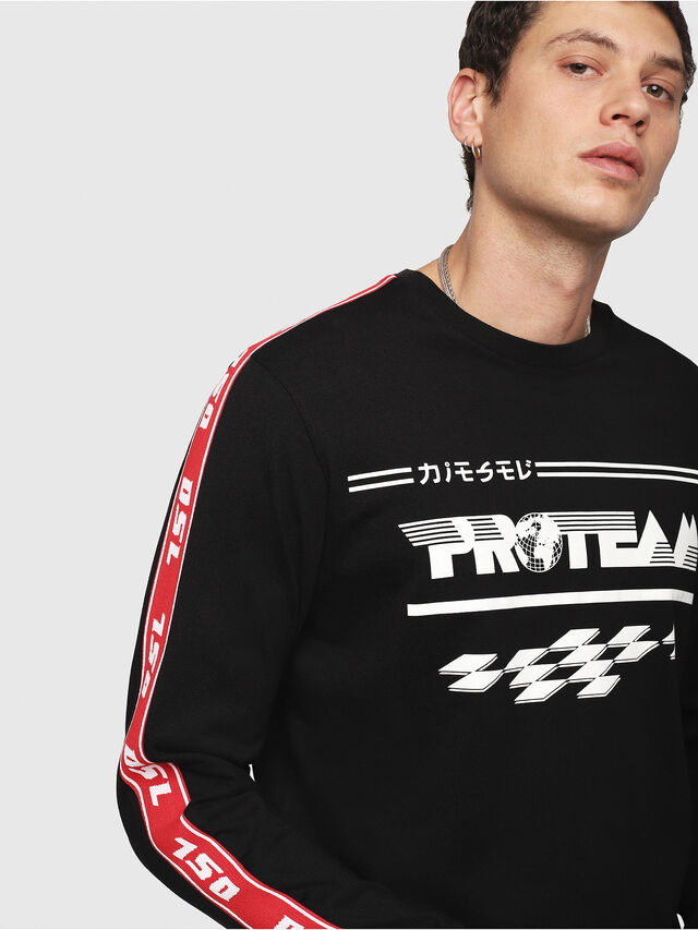 Diesel - T-JUST-LS-RACE, Black/White - T-Shirts - Image 3