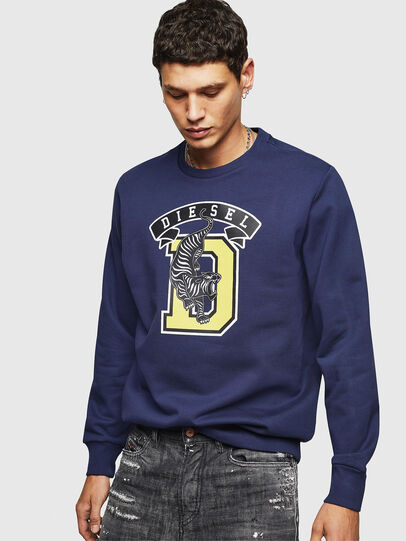 Diesel - S-GIR-B1, Blue - Sweaters - Image 1