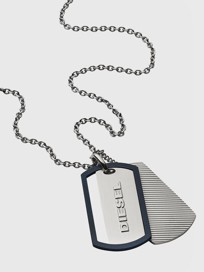Diesel - DX1198, Silver - Necklaces - Image 2