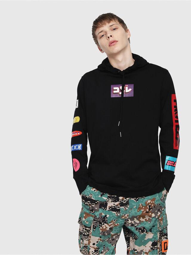 Diesel - T-FONTY-YA, Multicolor/Black - T-Shirts - Image 1