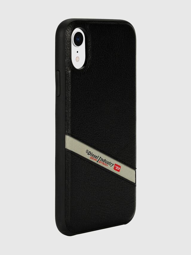 Diesel - DIESEL LEATHER CO-MOLD CASE FOR IPHONE XR, Black - Cases - Image 6