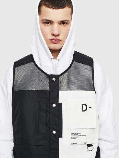 Diesel - J-FISHMESH, Black/White - Jackets - Image 3