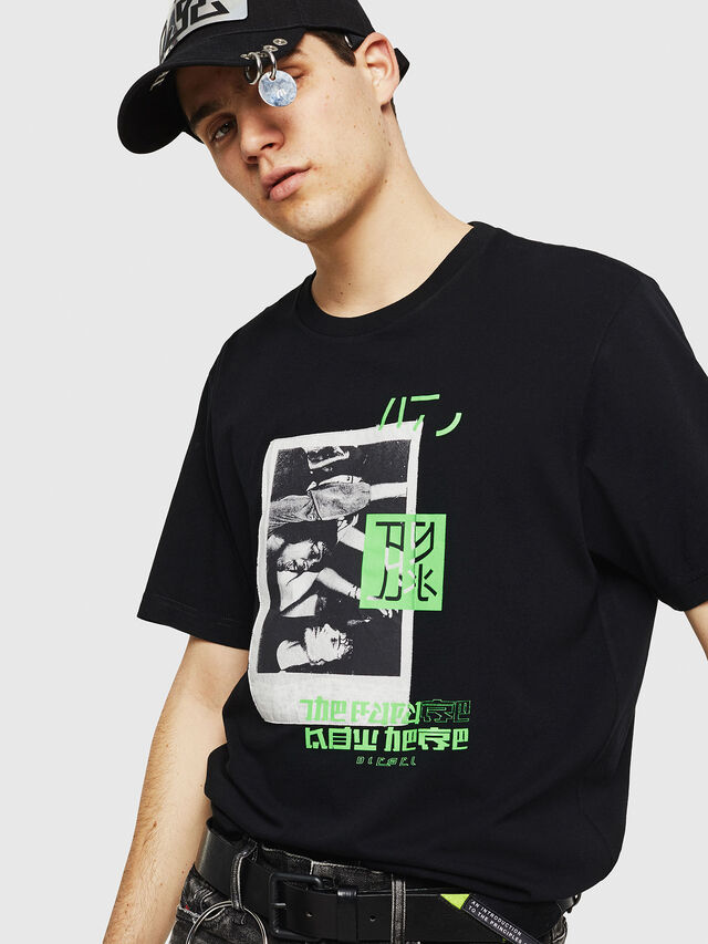 Diesel - T-JUST-Y21, Black - T-Shirts - Image 4