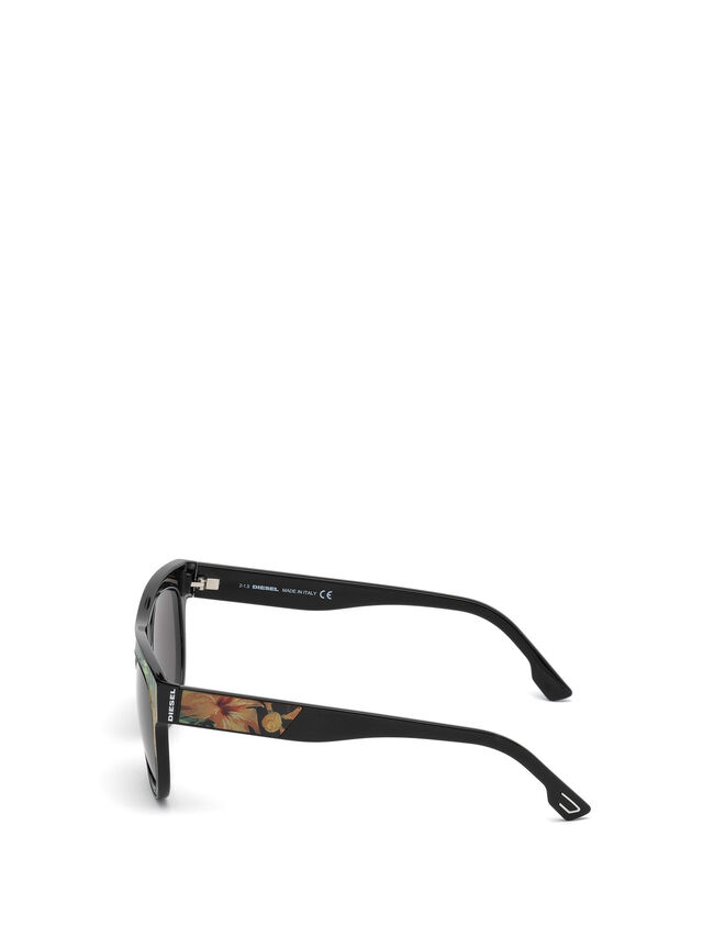 Diesel - DM0160, Black/Orange - Sunglasses - Image 3