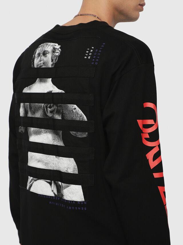 Diesel - T-LUCAS-LS-YB, Black - T-Shirts - Image 2