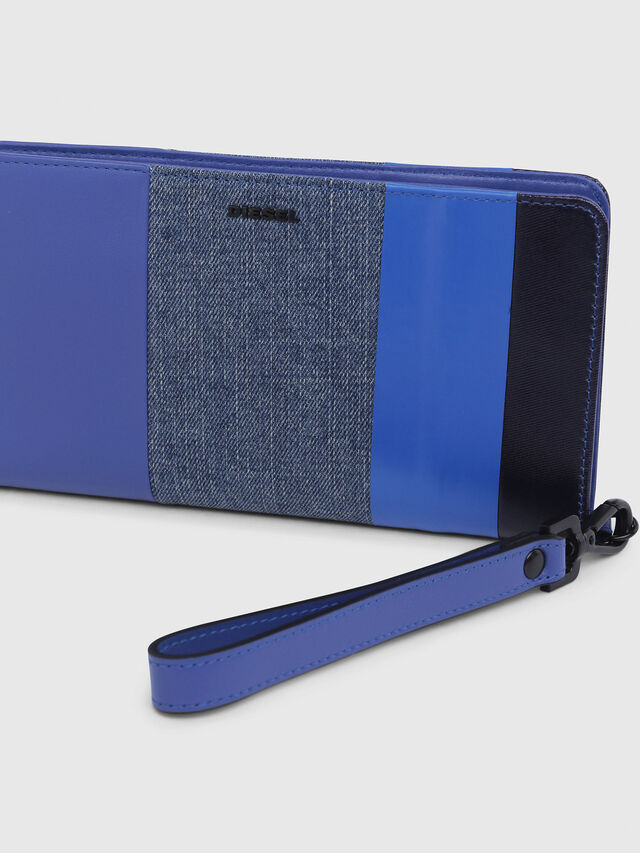 Diesel - NEW GRANATO LOOP, Blue - Zip-Round Wallets - Image 4