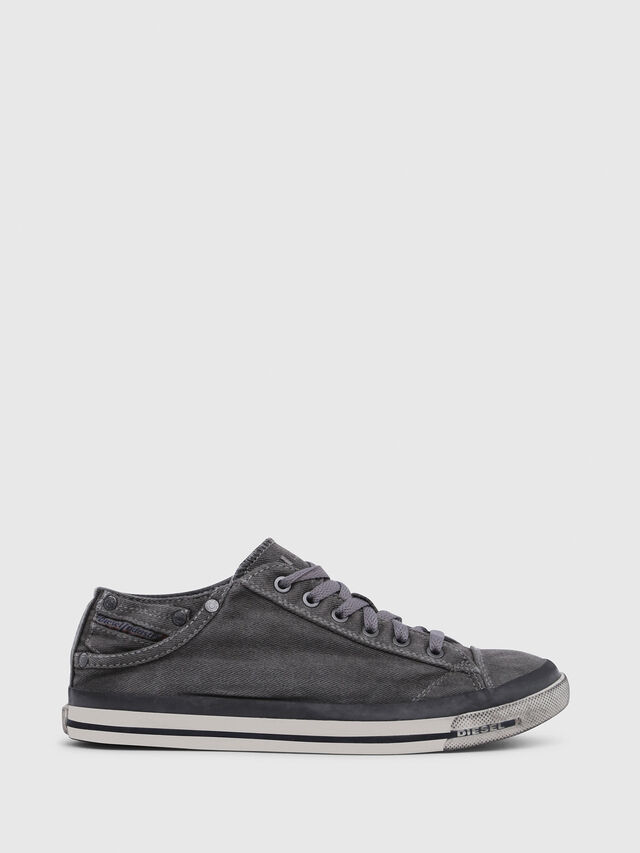 Diesel - EXPOSURE IV LOW  W, Metal Grey - Sneakers - Image 1