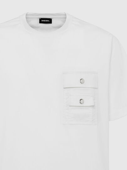 Diesel - T-TASK-SLITS, White - T-Shirts - Image 3
