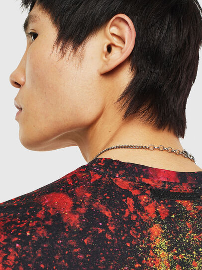 Diesel - TEORIALE-D, Black/Red - T-Shirts - Image 5