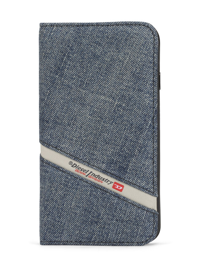 Diesel - DENIM IPHONE 8/7 FOLIO, Blue Jeans - Flip covers - Image 2