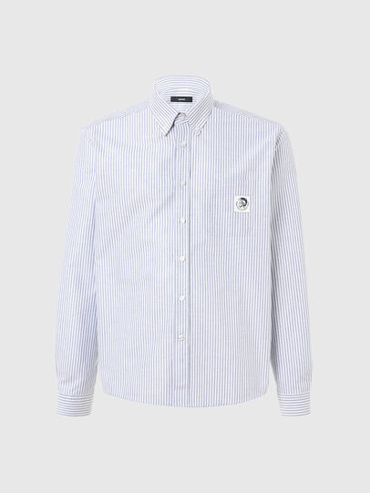 Diesel - S-JAMES-A, Blue/White - Shirts - Image 1