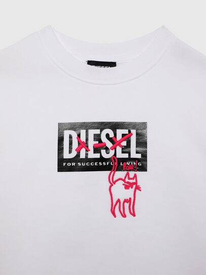 Diesel - SMUGD OVER, White - Sweaters - Image 3