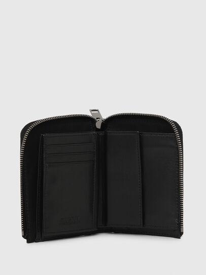 Diesel - L-12 ZIP, Black/White - Zip-Round Wallets - Image 3