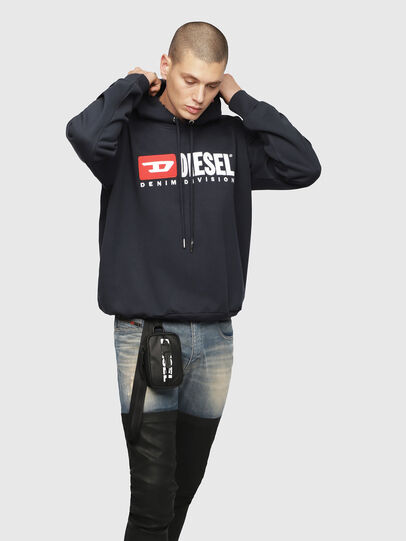 Diesel - S-DIVISION, Dark Blue - Sweaters - Image 1