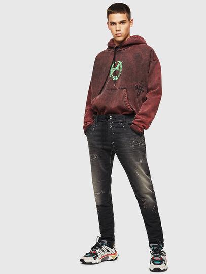 Diesel - Krooley JoggJeans 084AE, Black/Dark grey - Jeans - Image 6