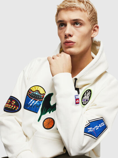 Diesel - S-ALBY-PATCHES, White - Sweaters - Image 3
