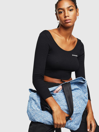 Diesel - F-THISBAG SHOPPER NS, Blue Jeans - Shopping and Shoulder Bags - Image 6