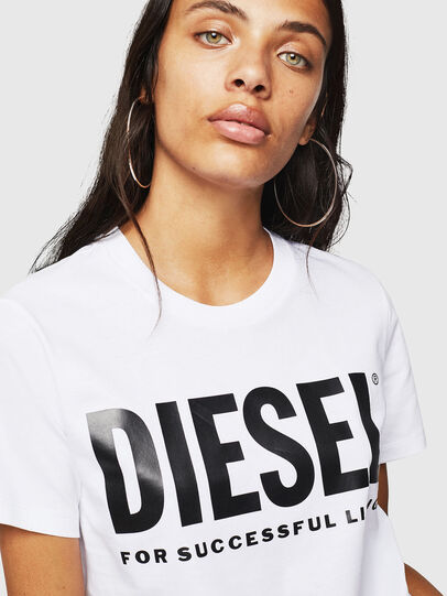 Diesel - T-SILY-WX, White - T-Shirts - Image 3
