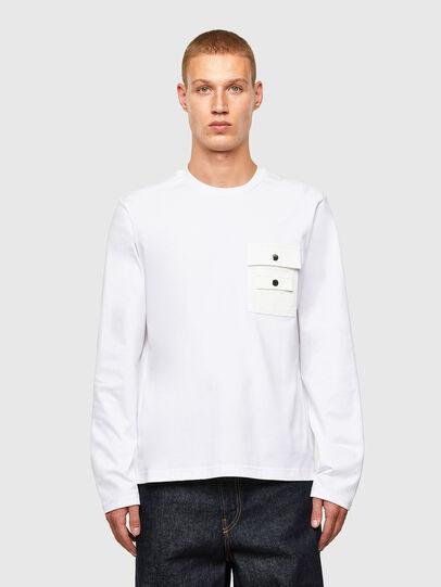 Diesel - T-TASK-LS, White - T-Shirts - Image 1