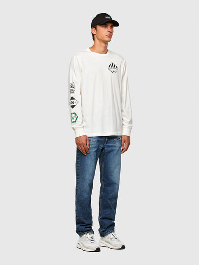 Diesel - T-JUST-LS-N60, White - T-Shirts - Image 5