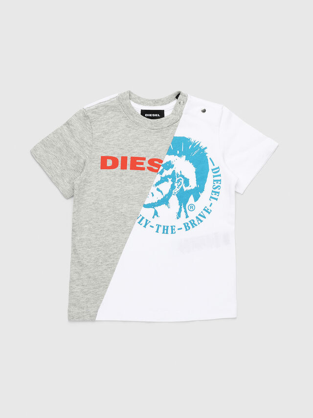 Diesel - TICAB, White/Grey - T-shirts and Tops - Image 1