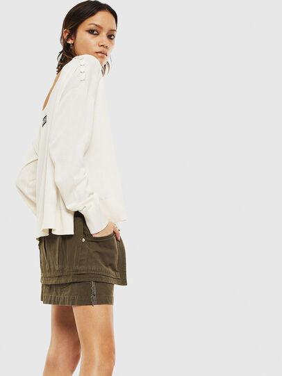 Diesel - M-PERLA-A, White - Knitwear - Image 4