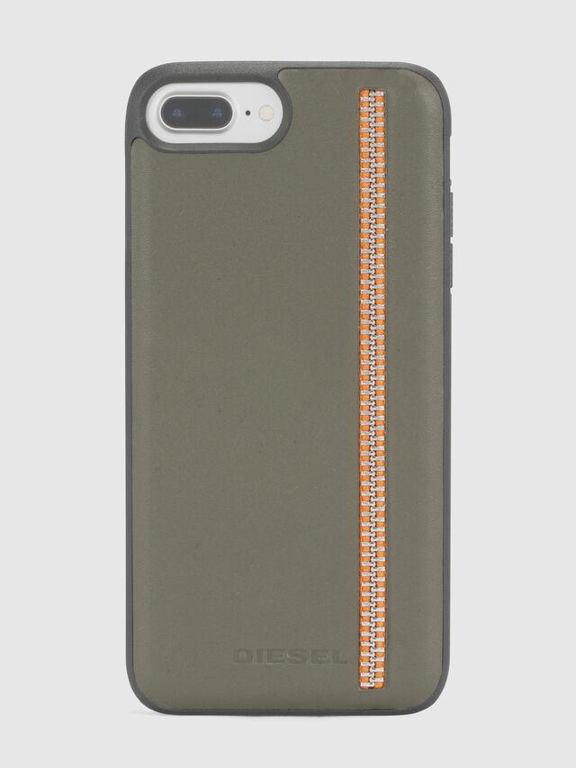Diesel ZIP OLIVE LEATHER IPHONE 8 PLUS/7 PLUS/6s PLUS/6 PLUS CASE, Olive Green - Cases - Image 2