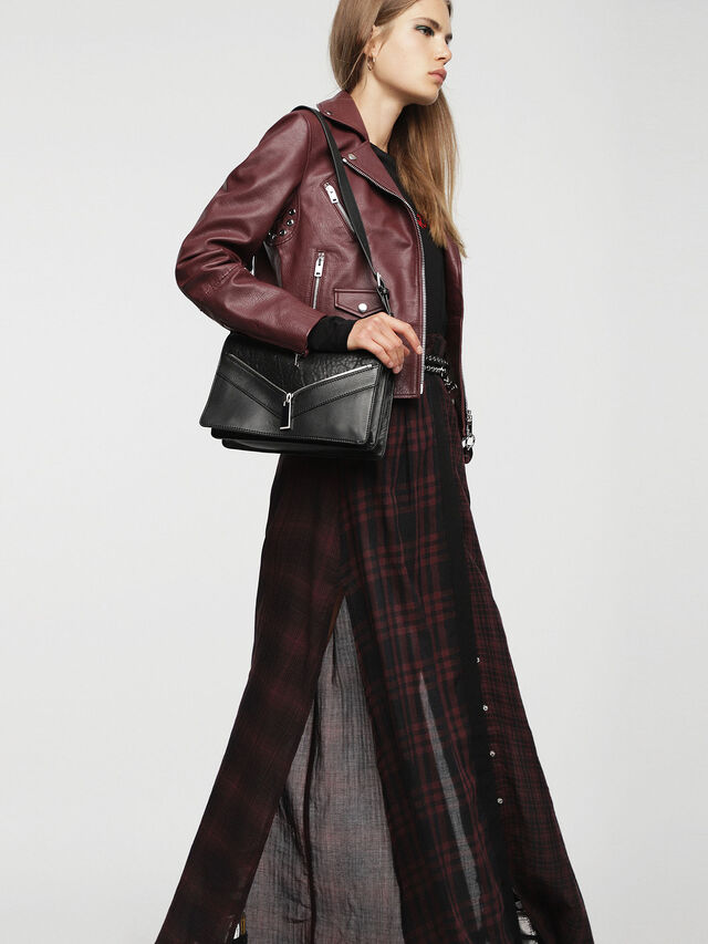 Diesel LE-MISHA, Black Leather - Crossbody Bags - Image 6