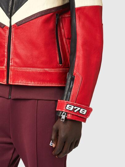 Diesel - L-TEAM, Red/Black - Leather jackets - Image 4