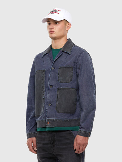 Diesel - D-ROKU JOGGJEANS, Dark Blue - Denim Jackets - Image 4
