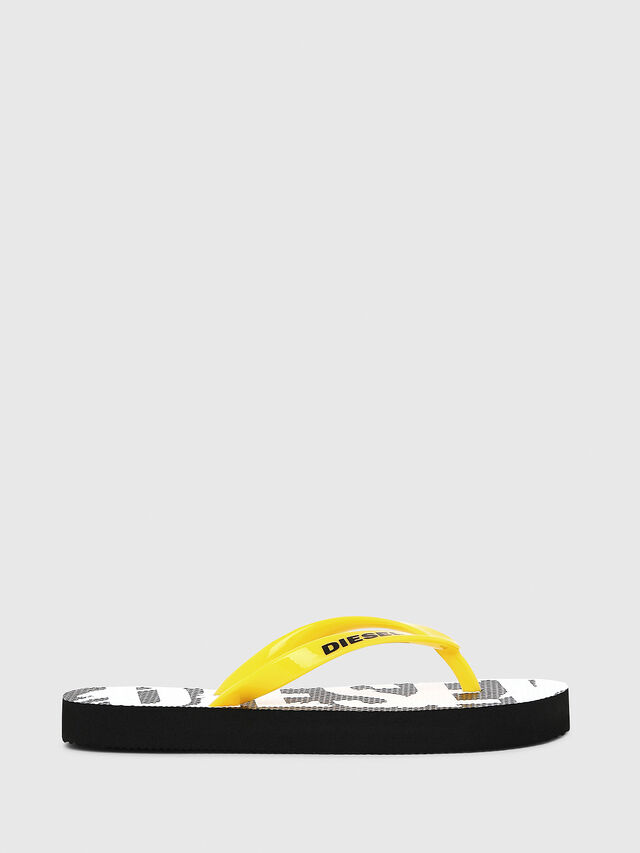 Diesel - FF 22 FLIPPER CH, Black/White - Footwear - Image 1