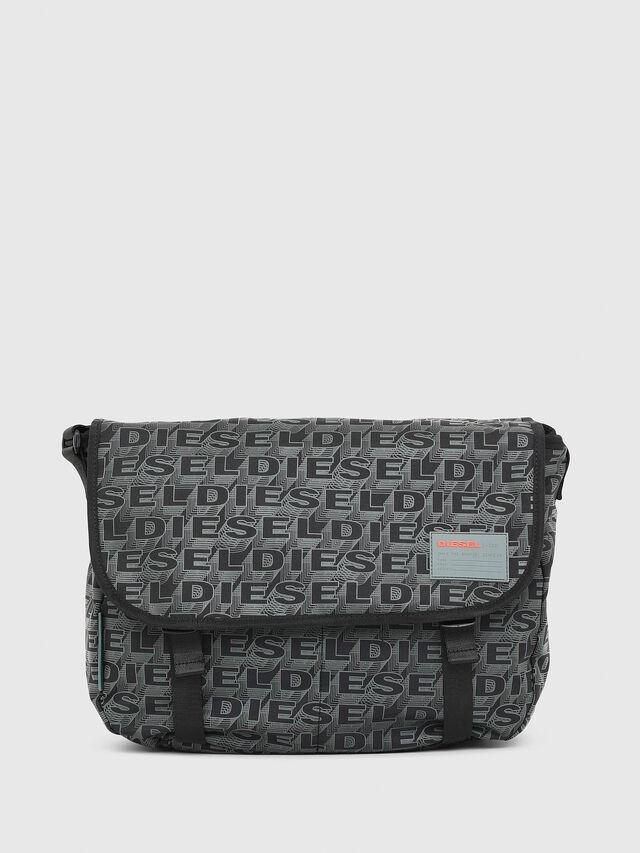 Diesel - F-DISCOVER MESSENGER, Black/Green - Travel Bags - Image 1