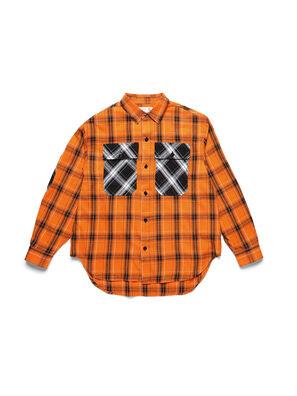 D-ANORACHECK, Orange - Shirts