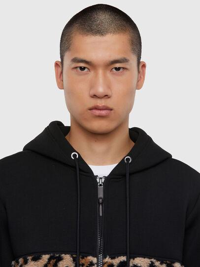 Diesel - S-GIRK-HOOD-ZIP-TARS, Black - Sweaters - Image 5