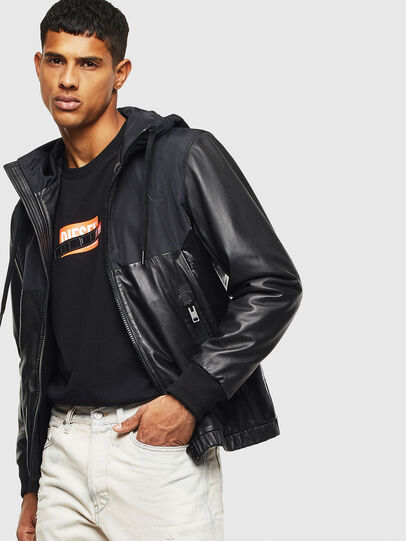 Diesel - L-CARRS, Black - Leather jackets - Image 4
