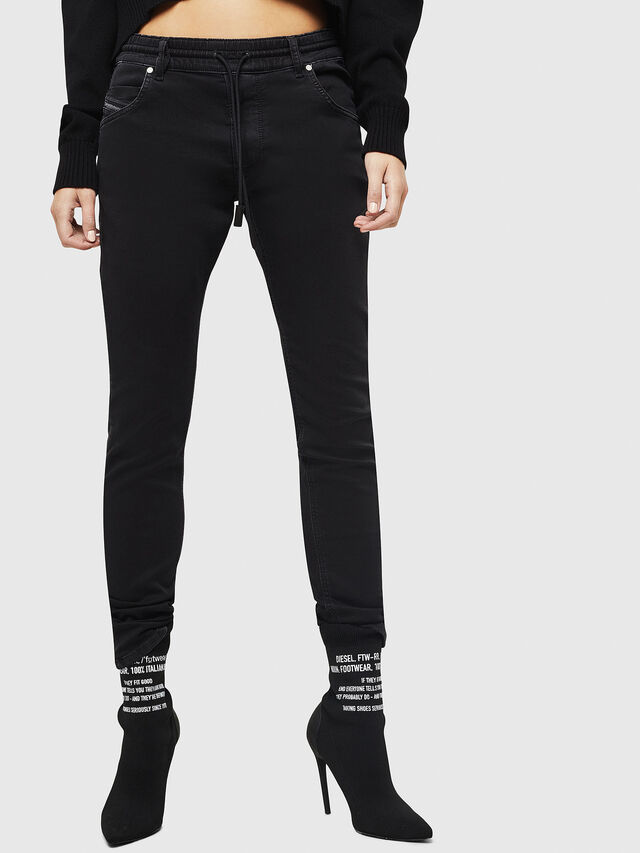Diesel - Krailey JoggJeans 0687Z, Black/Dark grey - Jeans - Image 1