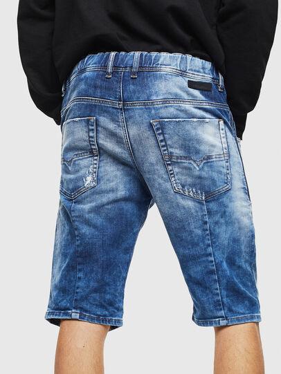 Diesel - D-KROOSHORT-T, Medium blue - Shorts - Image 2
