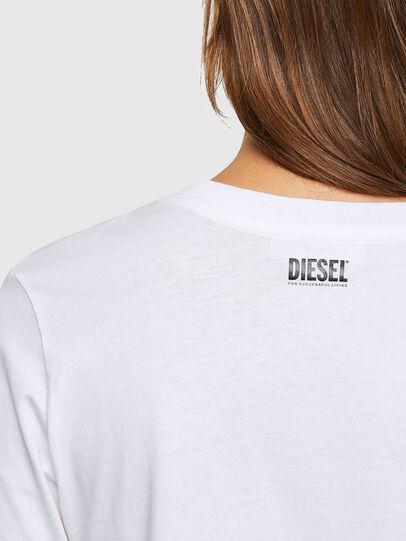 Diesel - T-SILY-V20, White - T-Shirts - Image 4