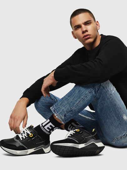 Diesel - S-BRENTHA LC, Black - Sneakers - Image 7