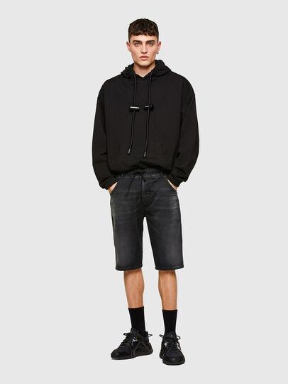 Diesel - D-KROOSHORT JOGGJEANS, Black - Shorts - Image 5