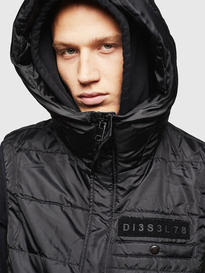 Diesel - W-SUN-REV-SLESS, Black - Winter Jackets - Image 5